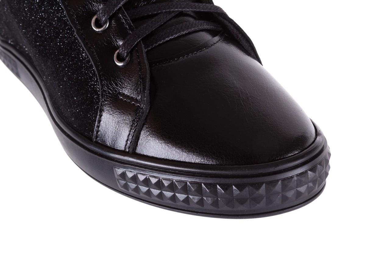 Sneakersy bayla-154 w-781 czarny, skóra naturalna 13