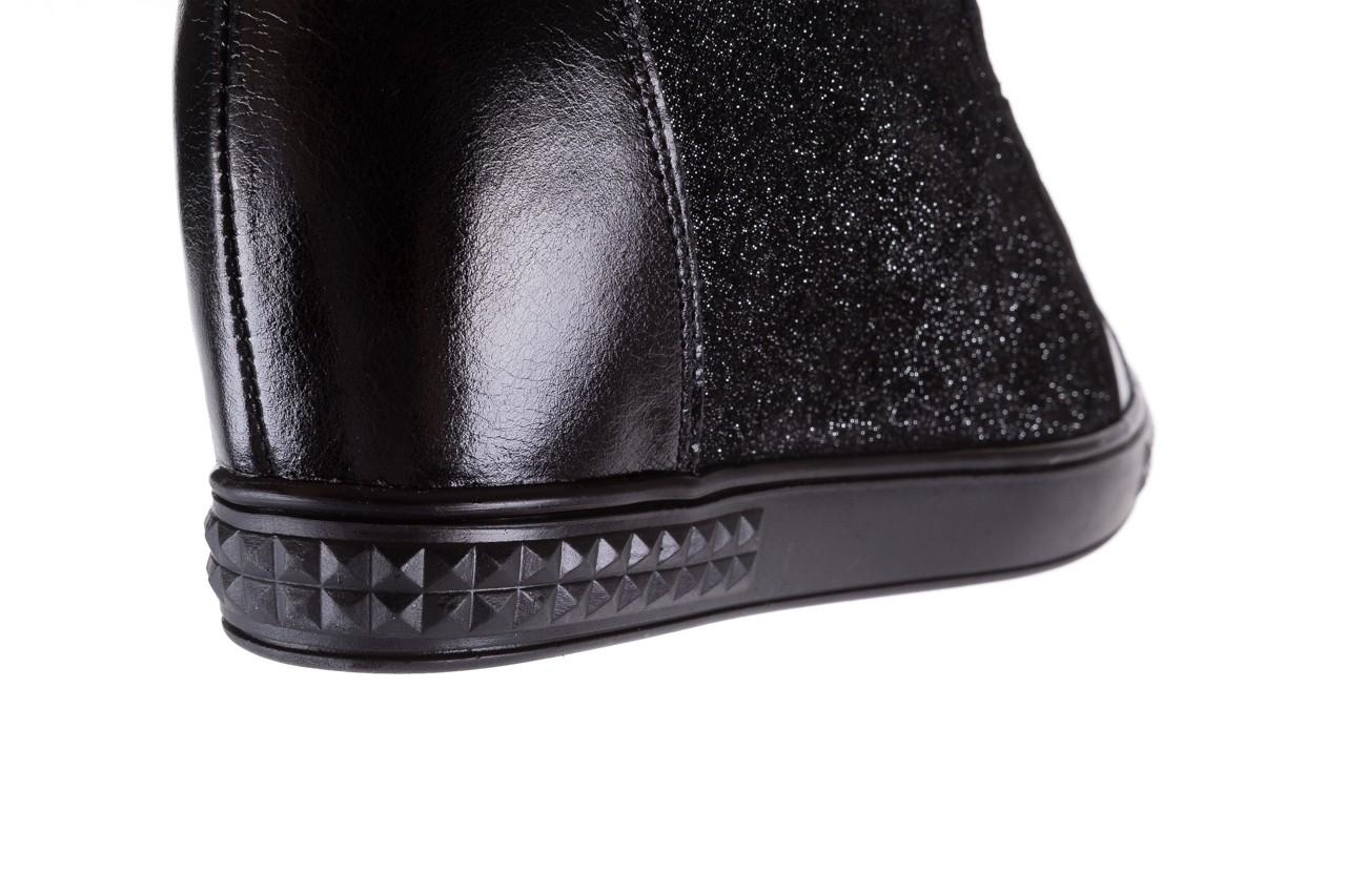 Sneakersy bayla-154 w-781 czarny, skóra naturalna 15