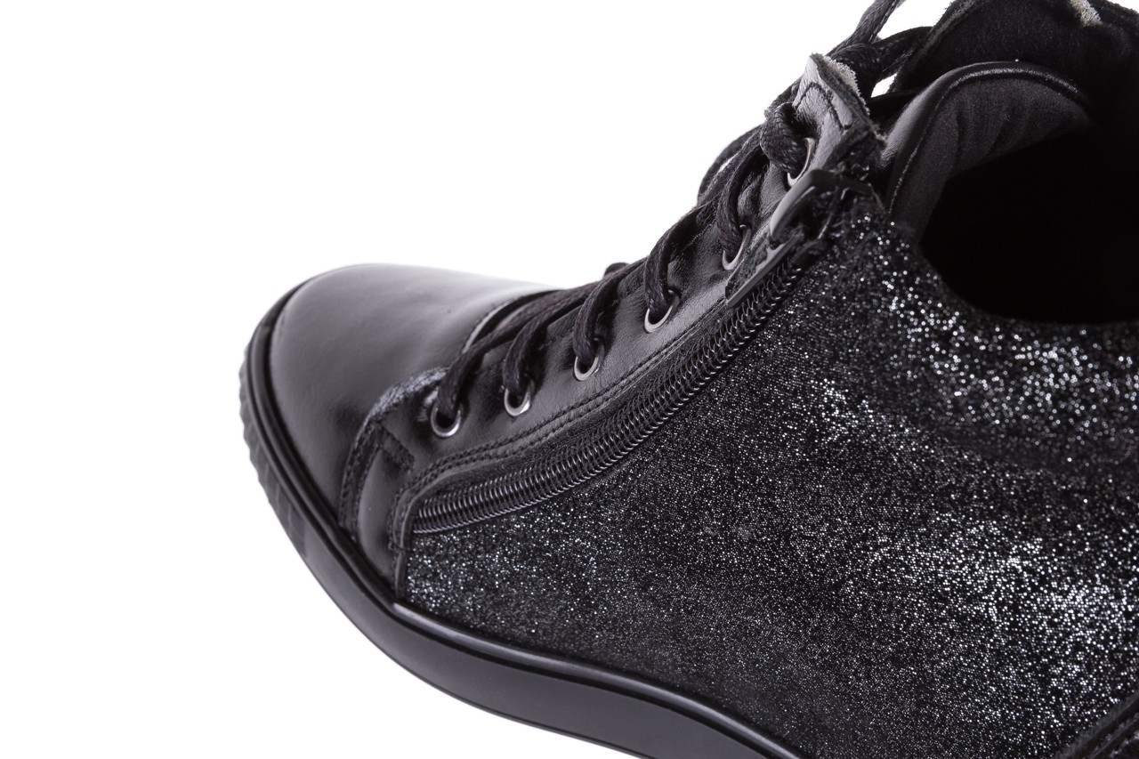 Sneakersy bayla-154 w-781 czarny, skóra naturalna 14