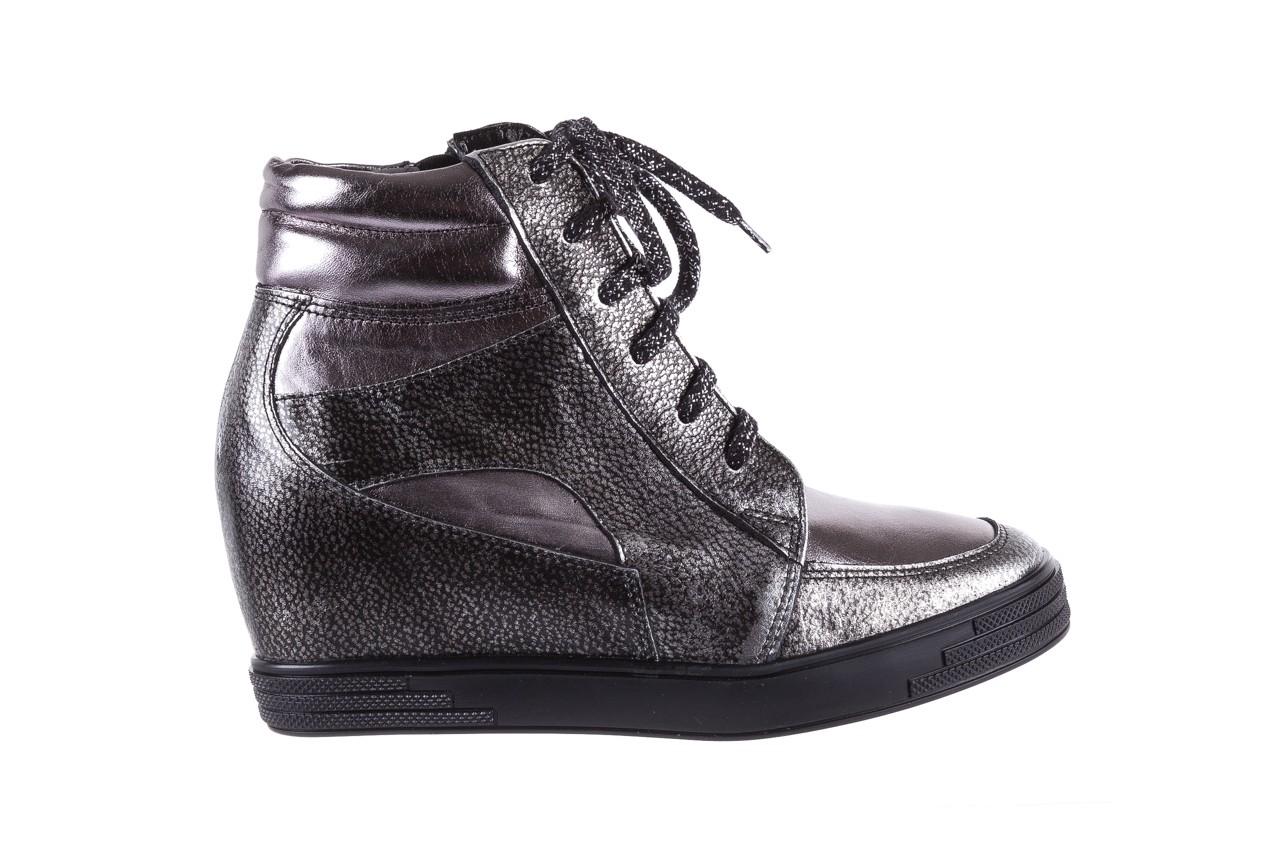 Sneakersy bayla-154 w-771 srebro, skóra naturalna  - sneakersy - buty damskie - kobieta 8