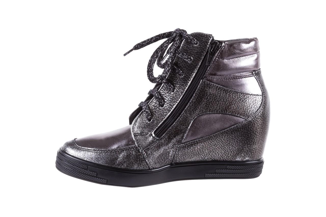 Sneakersy bayla-154 w-771 srebro, skóra naturalna  - sneakersy - buty damskie - kobieta 10