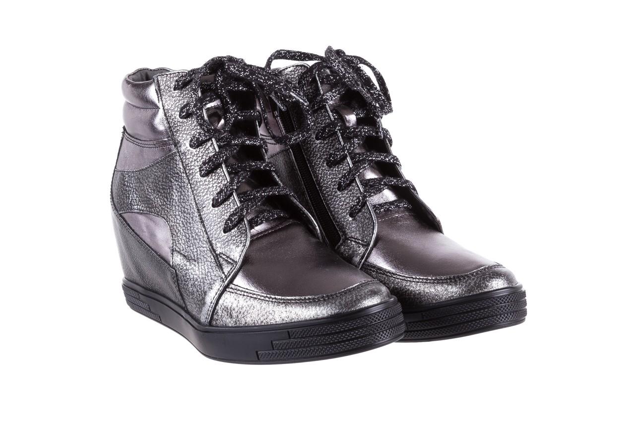 Sneakersy bayla-154 w-771 srebro, skóra naturalna  - sneakersy - buty damskie - kobieta 9