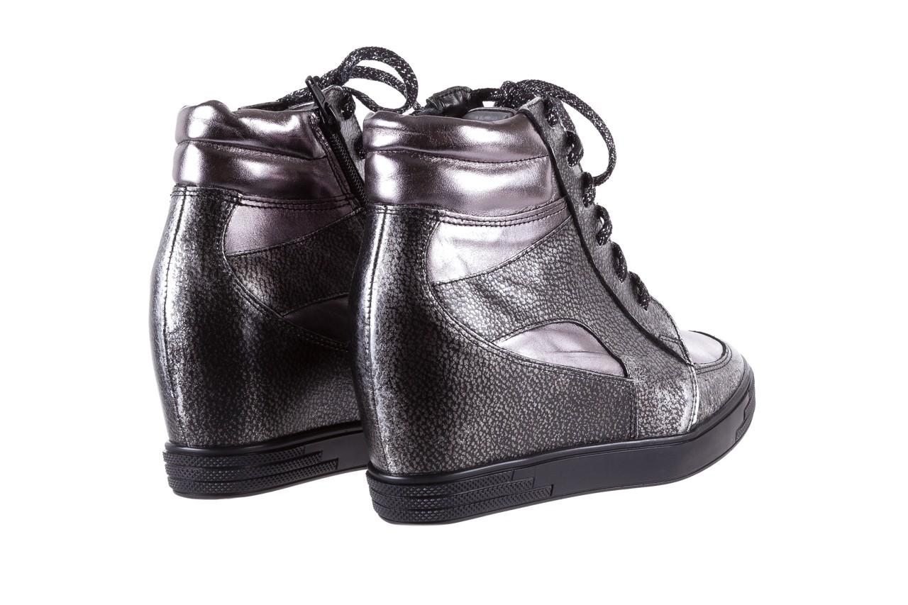 Sneakersy bayla-154 w-771 srebro, skóra naturalna  - sneakersy - buty damskie - kobieta 11