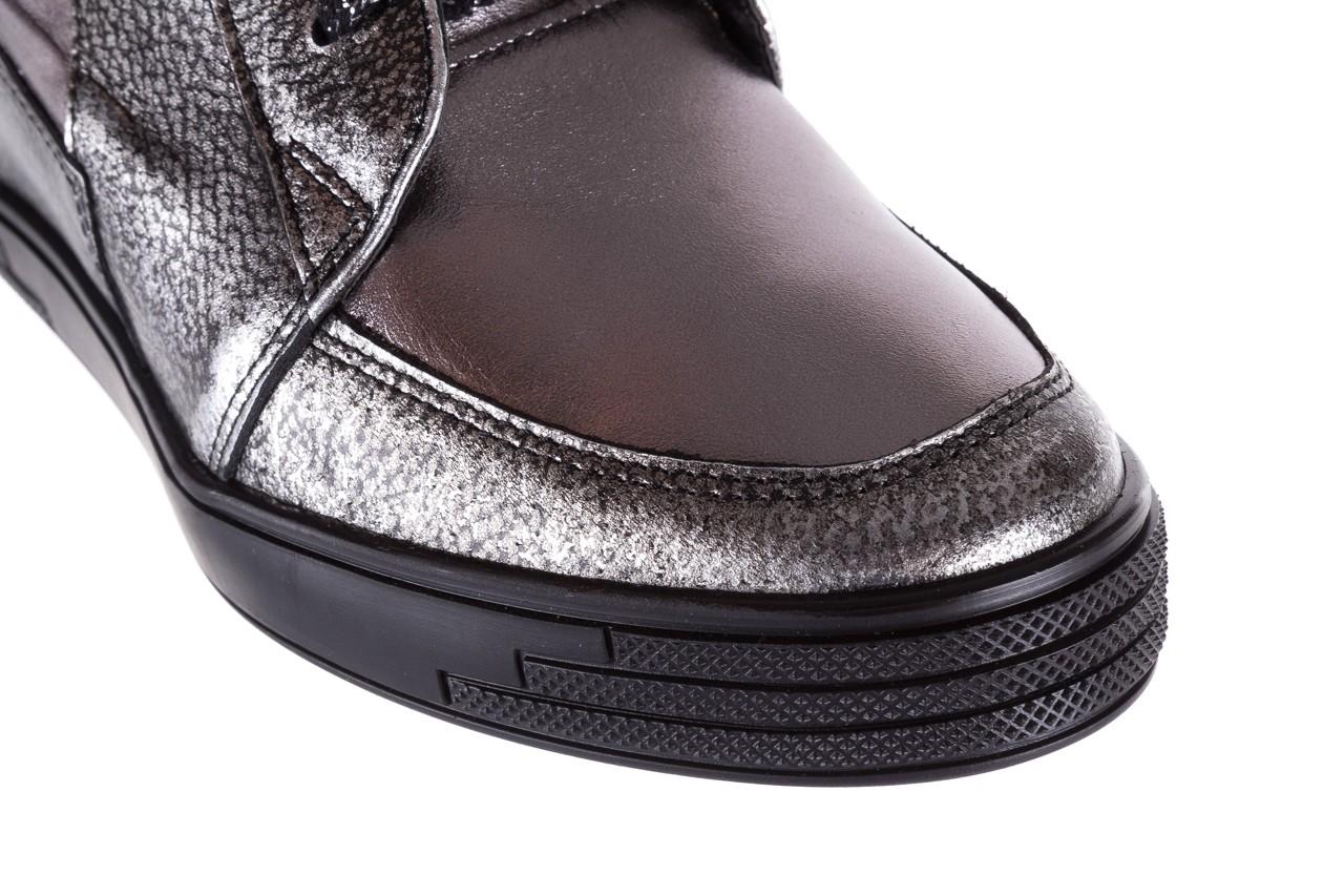 Sneakersy bayla-154 w-771 srebro, skóra naturalna  - sneakersy - buty damskie - kobieta 13