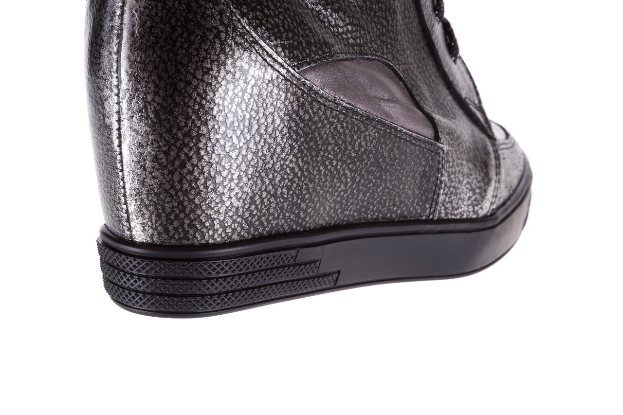 Sneakersy bayla-154 w-771 srebro, skóra naturalna  - sneakersy - buty damskie - kobieta 15