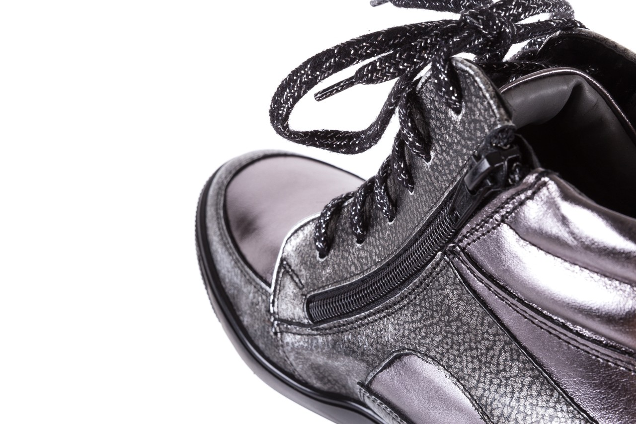 Sneakersy bayla-154 w-771 srebro, skóra naturalna  - sneakersy - buty damskie - kobieta 14