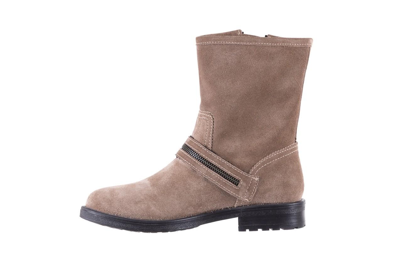 Botki bayla-164 top 25 beige 164007, beż, skóra naturalna  - worker boots - trendy - kobieta 9