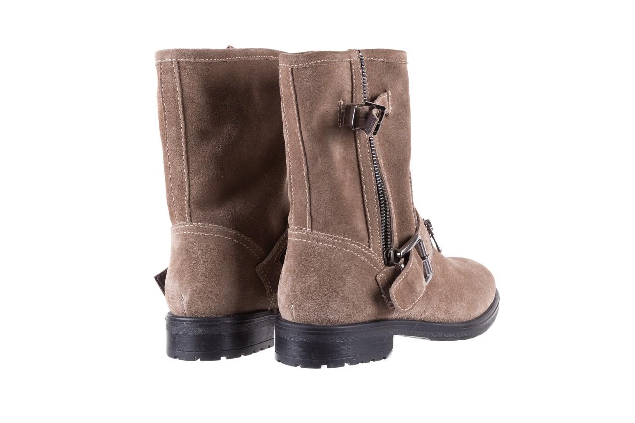 Botki bayla-164 top 25 beige 164007, beż, skóra naturalna  - worker boots - trendy - kobieta 10