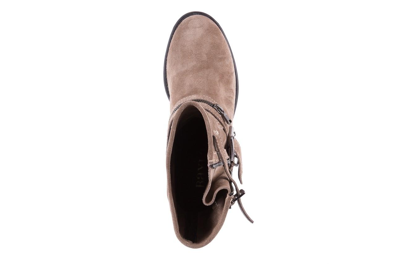 Botki bayla-164 top 25 beige 164007, beż, skóra naturalna  - worker boots - trendy - kobieta 11