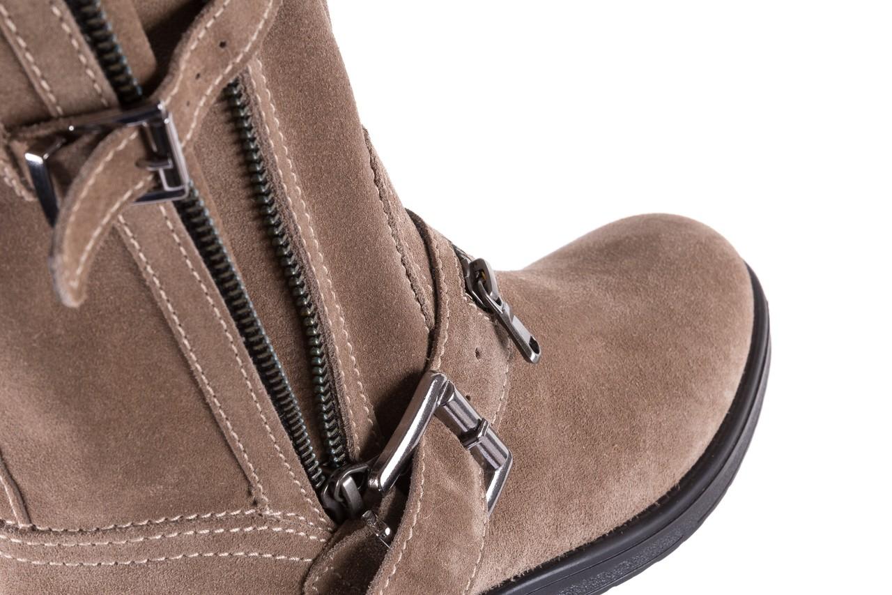 Botki bayla-164 top 25 beige 164007, beż, skóra naturalna  - worker boots - trendy - kobieta 12