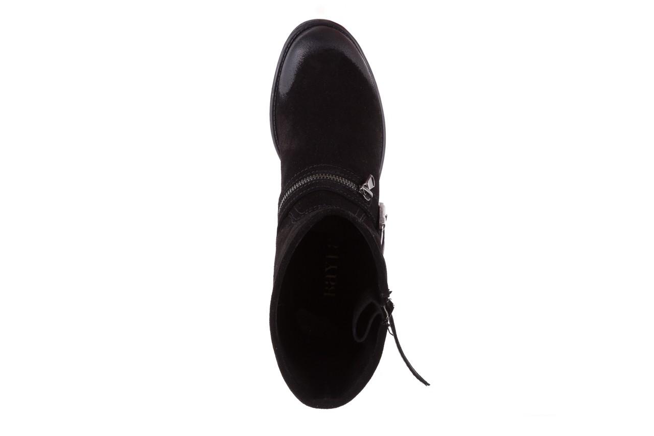 Botki bayla-164 top 25 black 164008, czarny, skóra naturalna 11