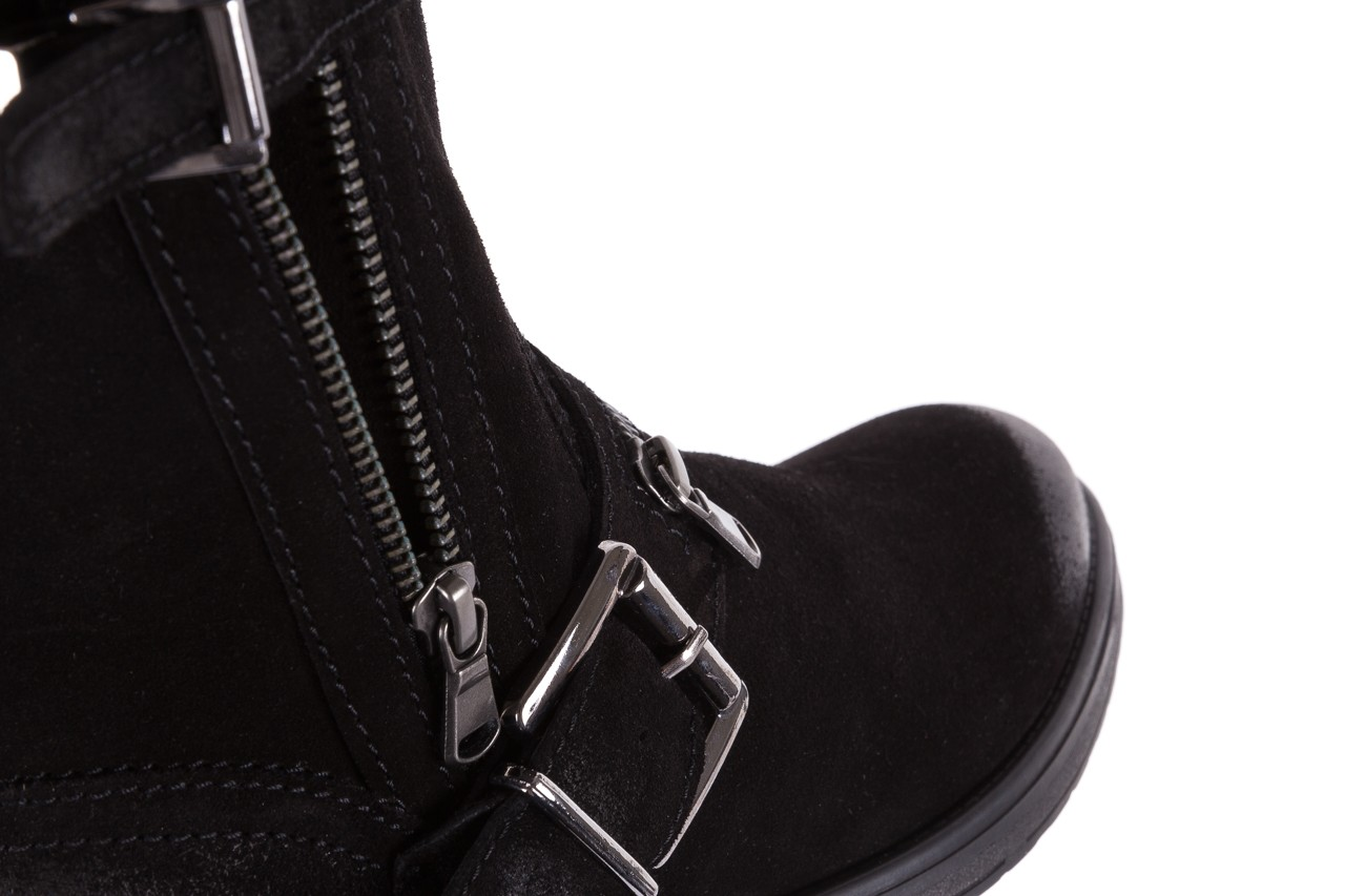 Botki bayla-164 top 25 black 164008, czarny, skóra naturalna 12