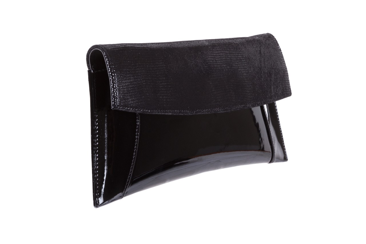 Torebka bayla-097 torebka koperta sandra czarny-lakier-czarny tejus, skóra naturalna lakierowana - halloween do -30% 5