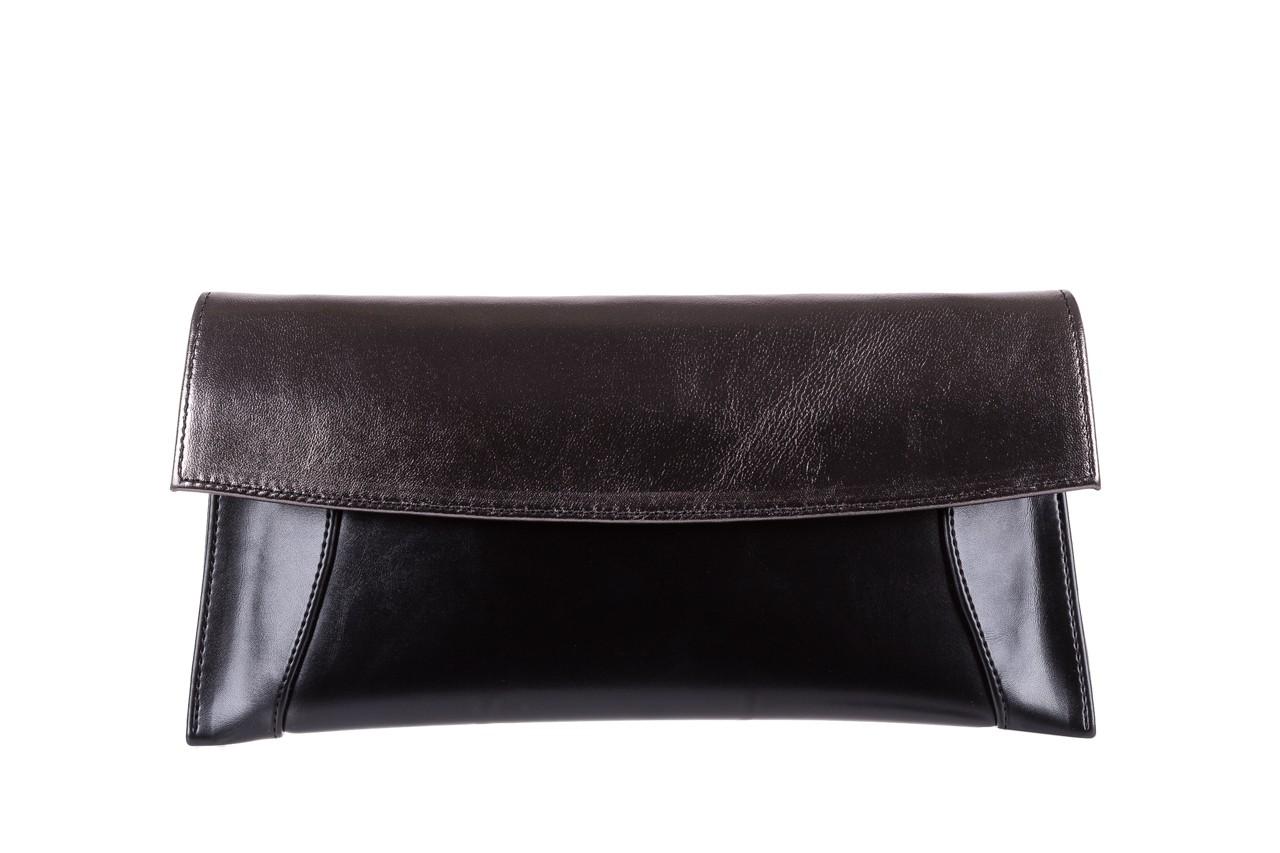 Torebka bayla-097 torebka koperta sandra czarno-srebrna, skóra naturalna  - black week do -40% 4