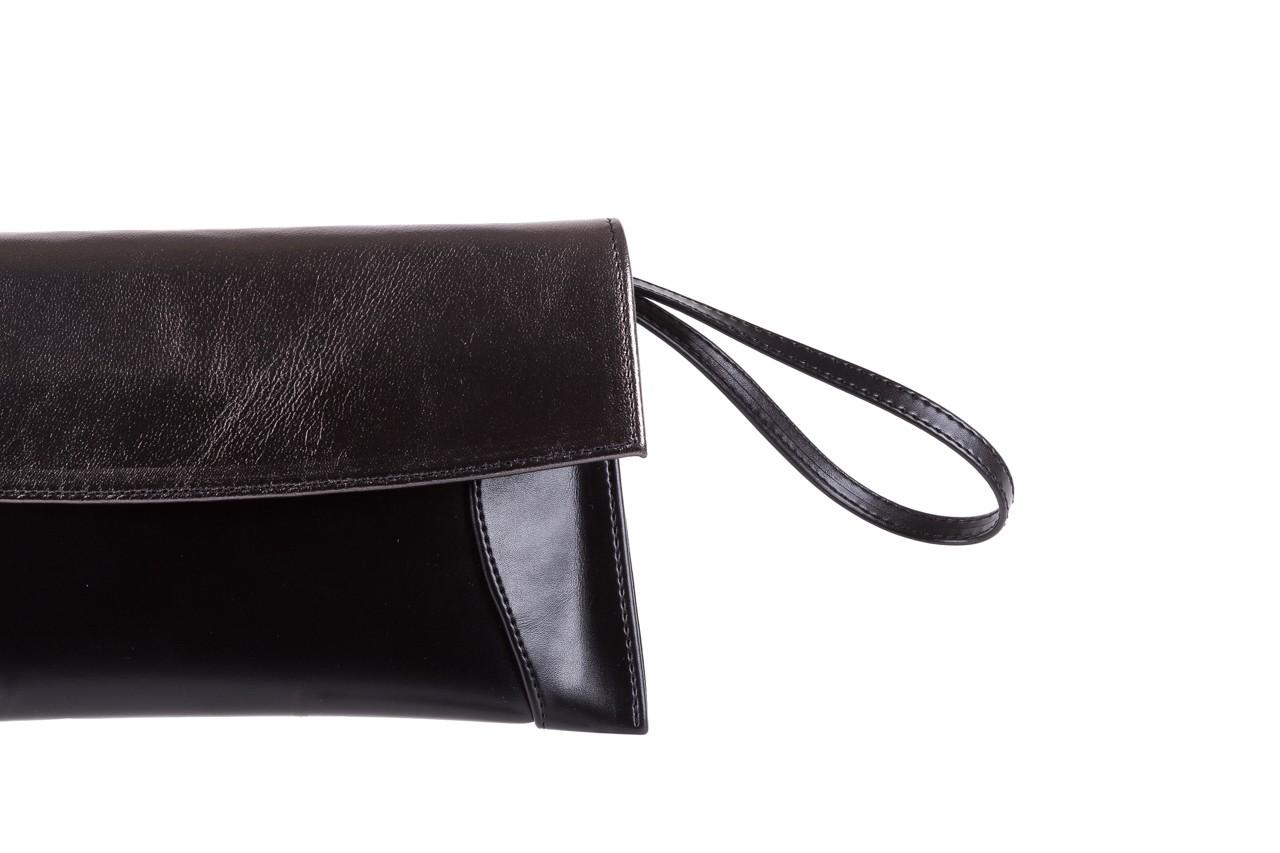Torebka bayla-097 torebka koperta sandra czarno-srebrna, skóra naturalna  - akcesoria - kobieta 6