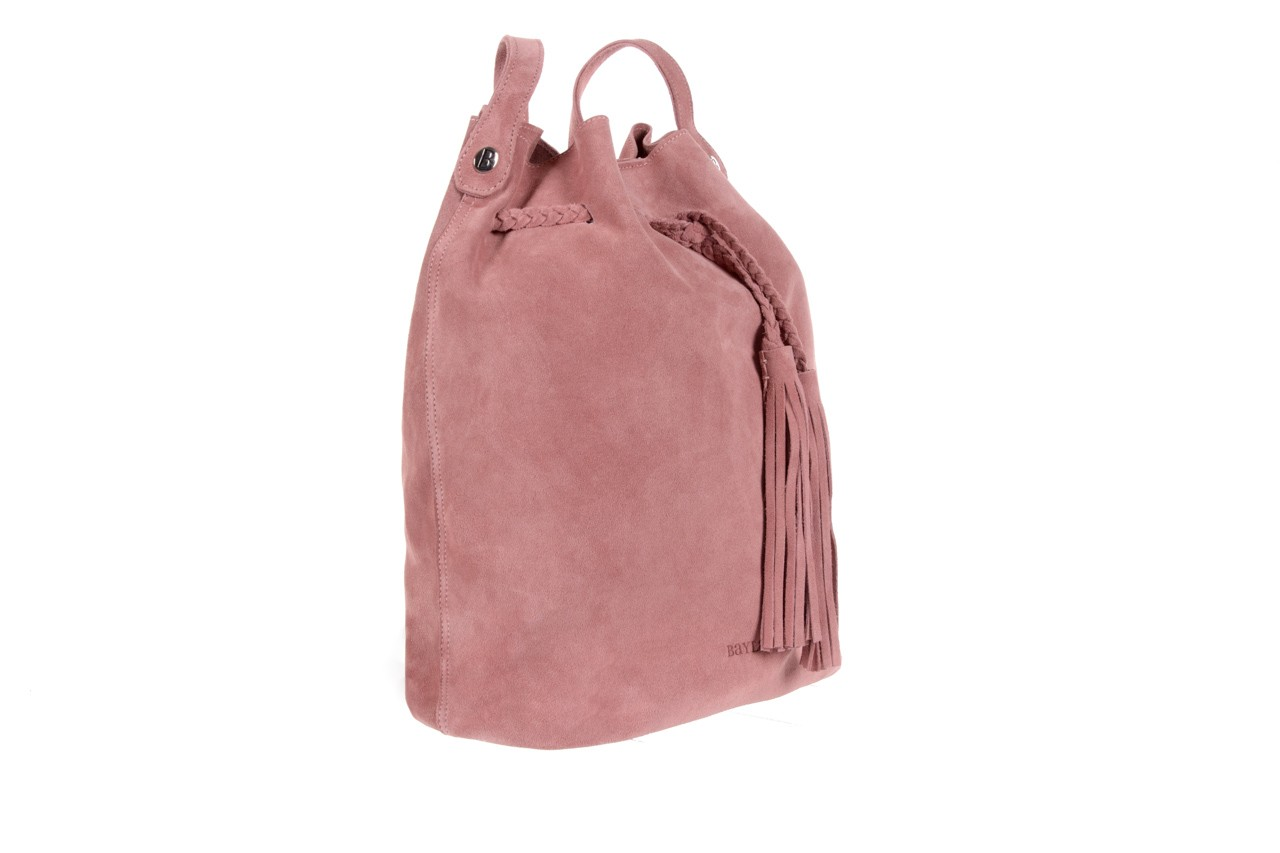 Bayla-125 skórzany worek prato pudrowy róż - bayla - nasze marki 7