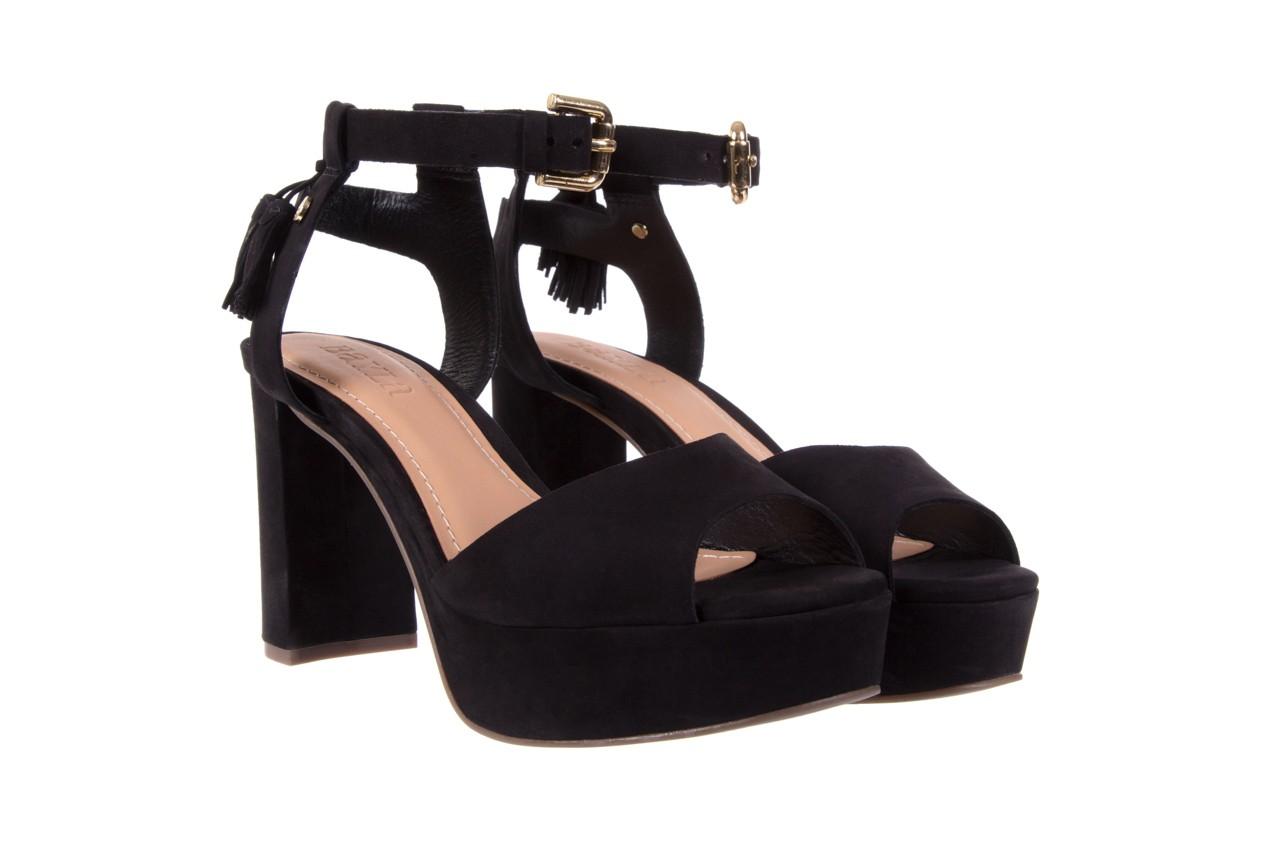 Sandały bayla-067 129006 nobuck black, czarny, skóra naturalna  - na platformie - sandały - buty damskie - kobieta 8