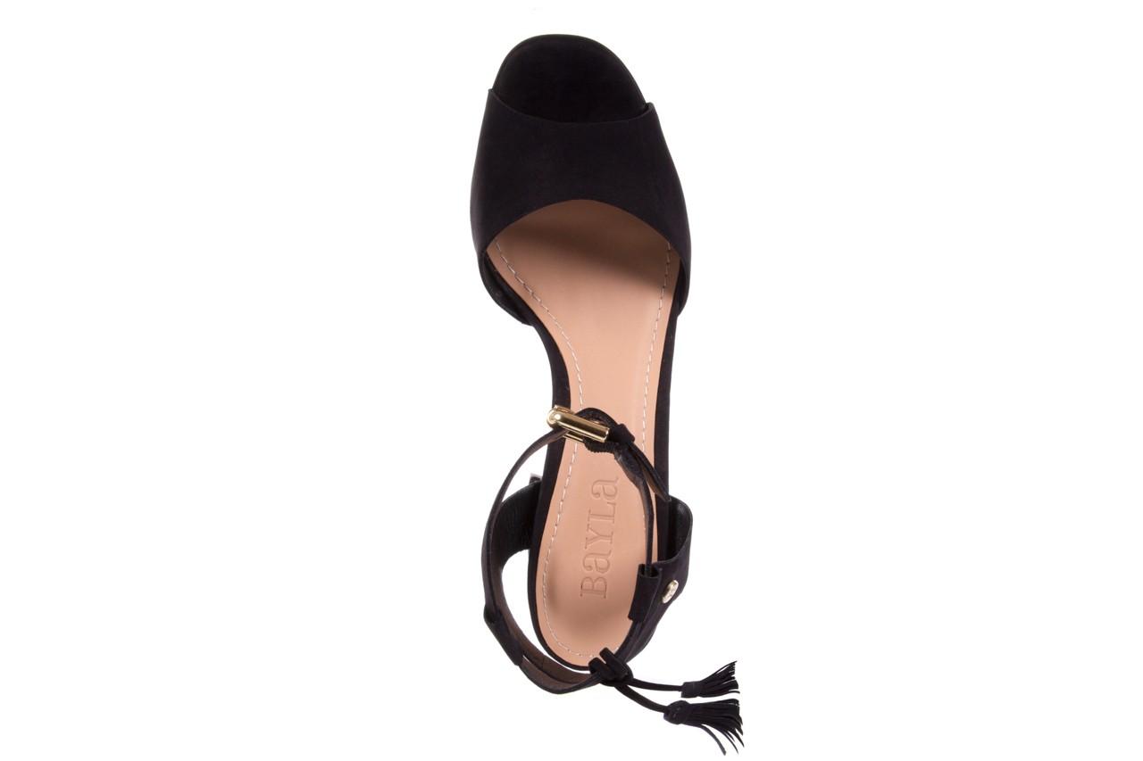 Sandały bayla-067 129006 nobuck black, czarny, skóra naturalna  - na platformie - sandały - buty damskie - kobieta 10