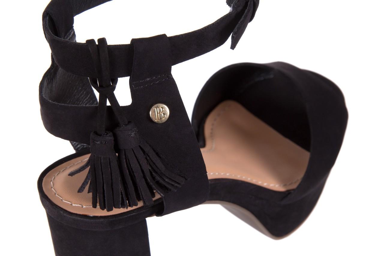 Sandały bayla-067 129006 nobuck black, czarny, skóra naturalna  - na platformie - sandały - buty damskie - kobieta 12