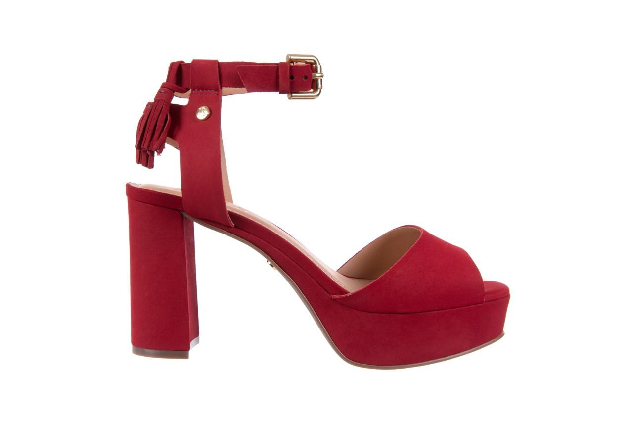 Sandały bayla-067 129006 nobuck red velvet, czerwony, skóra naturalna  - bayla - nasze marki 7