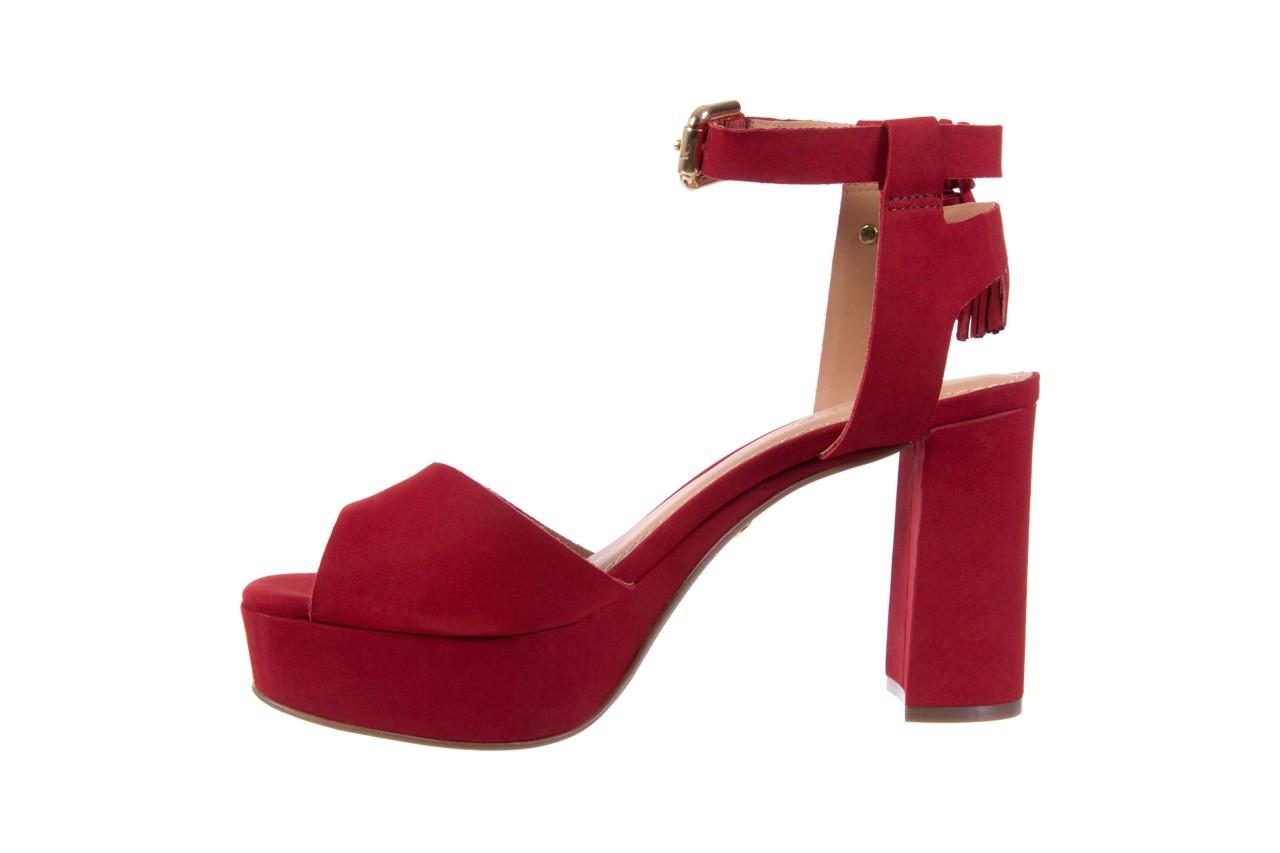 Sandały bayla-067 129006 nobuck red velvet, czerwony, skóra naturalna  - bayla - nasze marki 9
