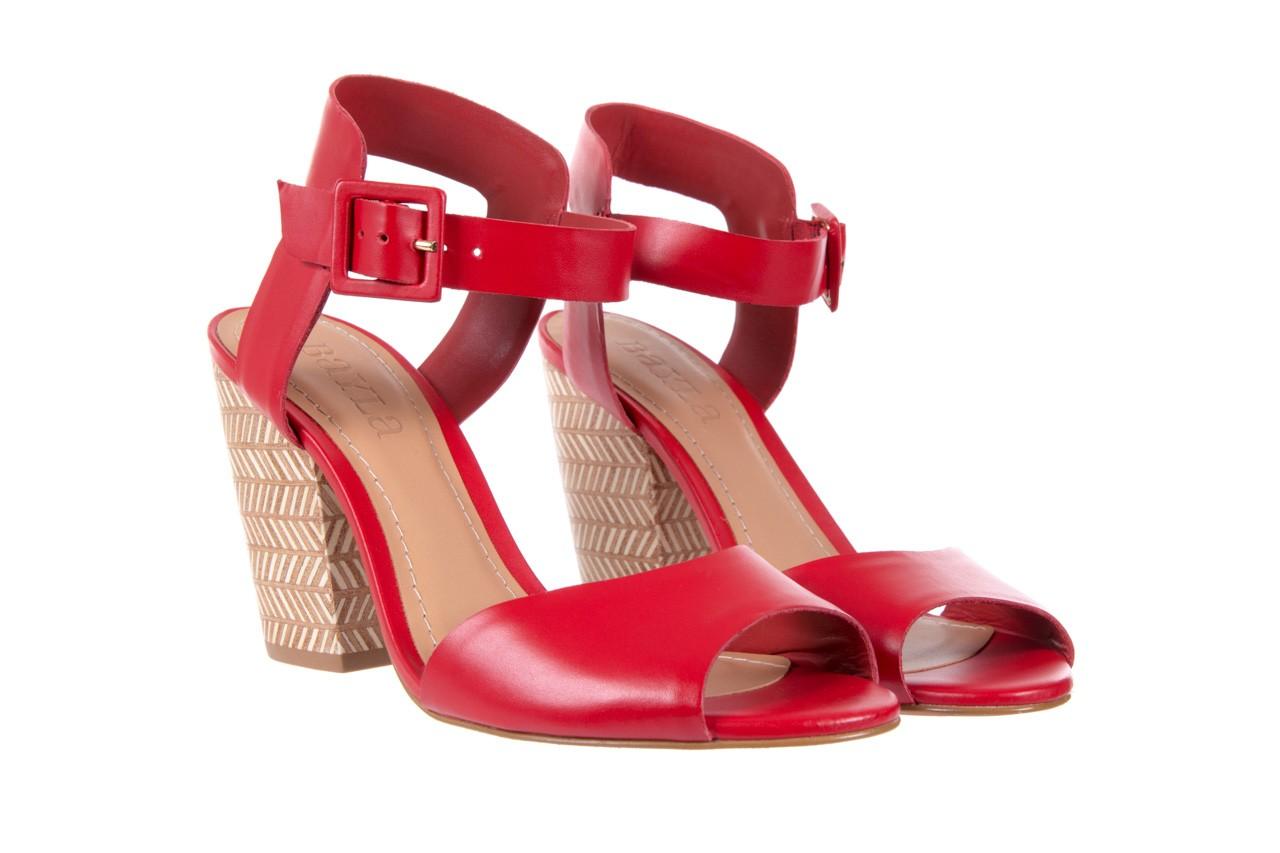 Sandały bayla-067 113215 vegetal red, czerwony, skóra naturalna  - bayla - nasze marki 9