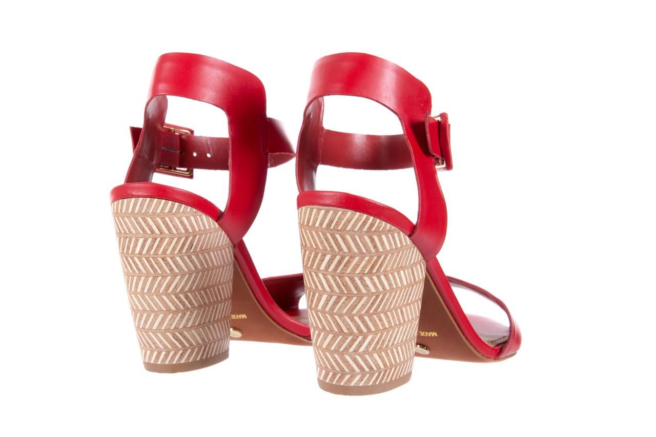 Sandały bayla-067 113215 vegetal red, czerwony, skóra naturalna  - bayla - nasze marki 11
