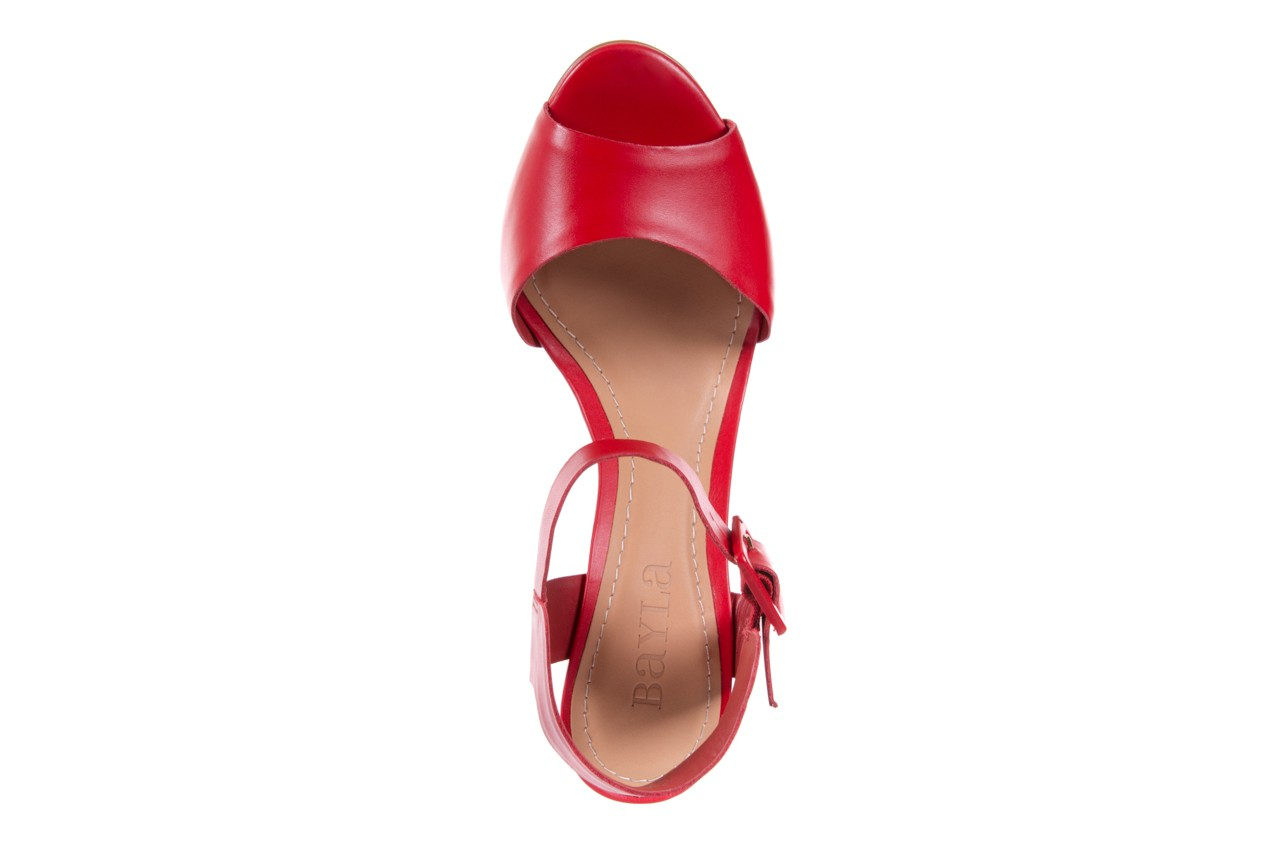 Sandały bayla-067 113215 vegetal red, czerwony, skóra naturalna  - bayla - nasze marki 12