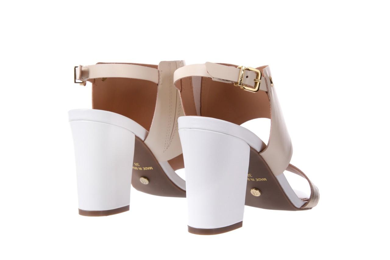 Sandały bayla-067 122330 b gold vanilla white, beż/ złoto, skóra naturalna  - bayla - nasze marki 10