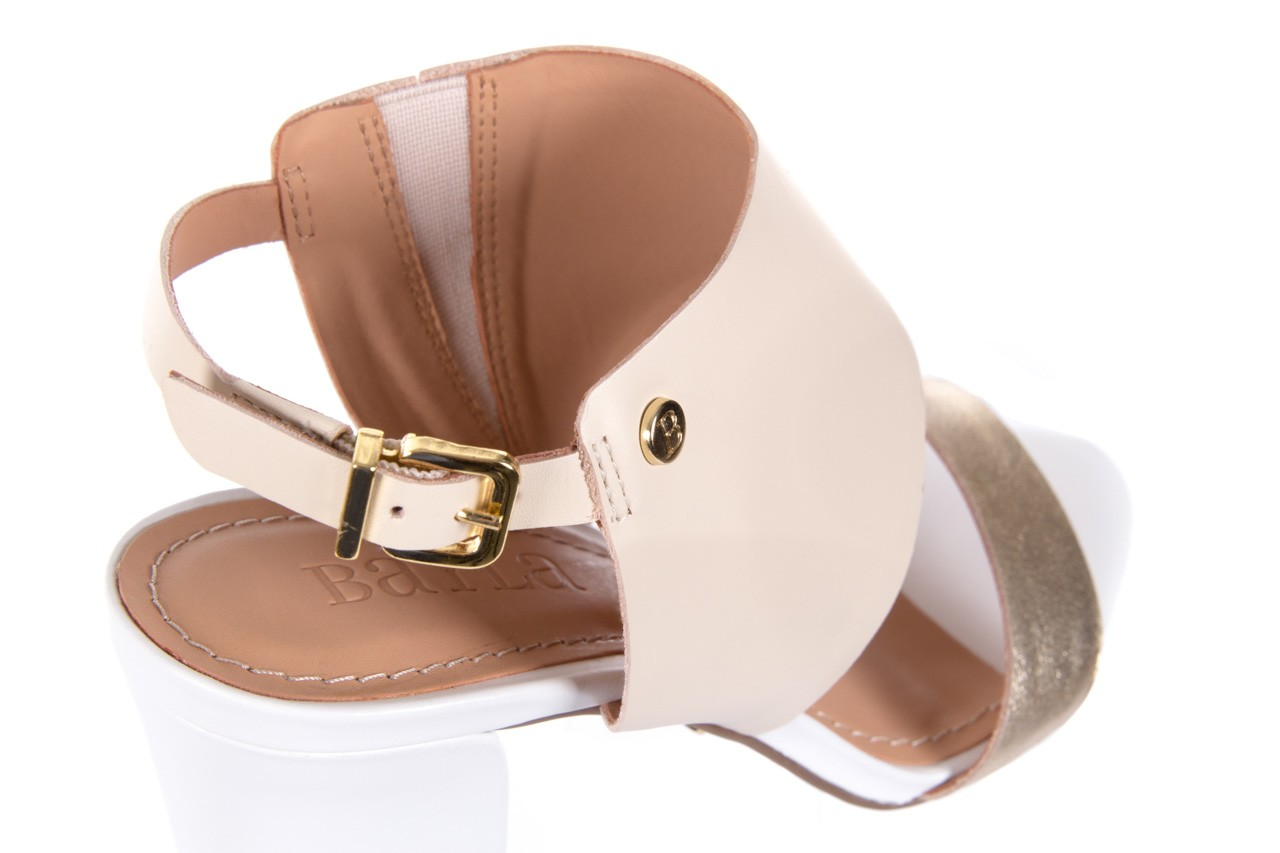 Sandały bayla-067 122330 b gold vanilla white, beż/ złoto, skóra naturalna  - bayla - nasze marki 12