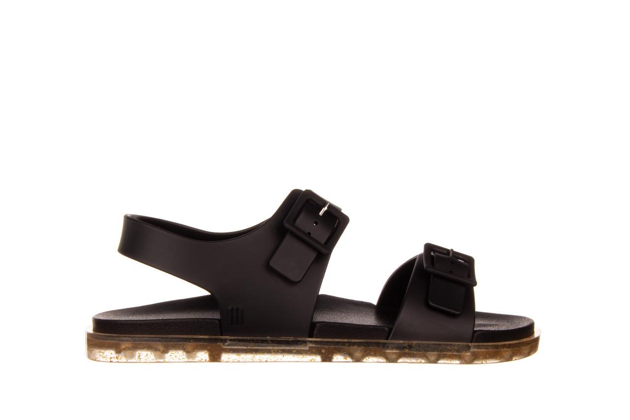 Sandały melissa wide sandal ad black rice husk 010358, czarny, guma - nowości 8