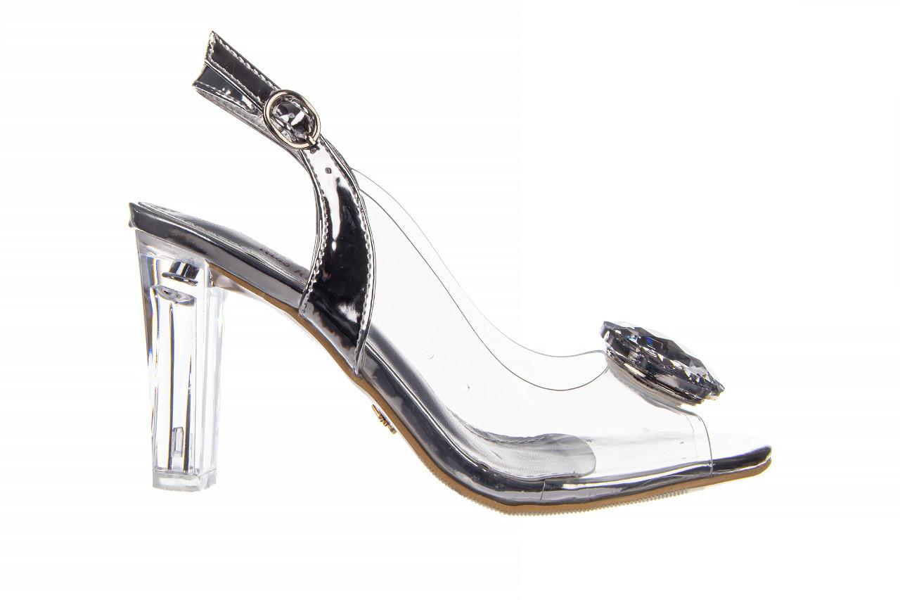 Sandały sca'viola g-17 silver 21 047186, srebro, silikon 8