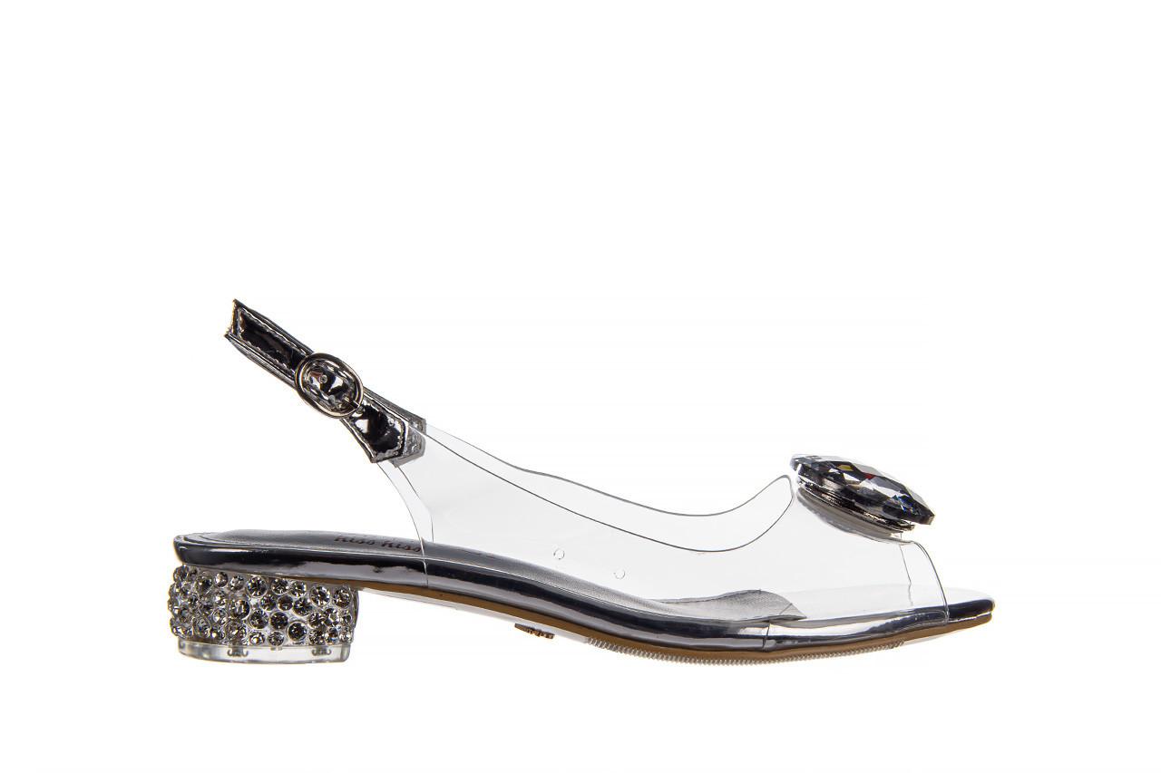 Sandały sca'viola g-15 silver 21 047183, srebro, silikon  - na obcasie - sandały - buty damskie - kobieta 10