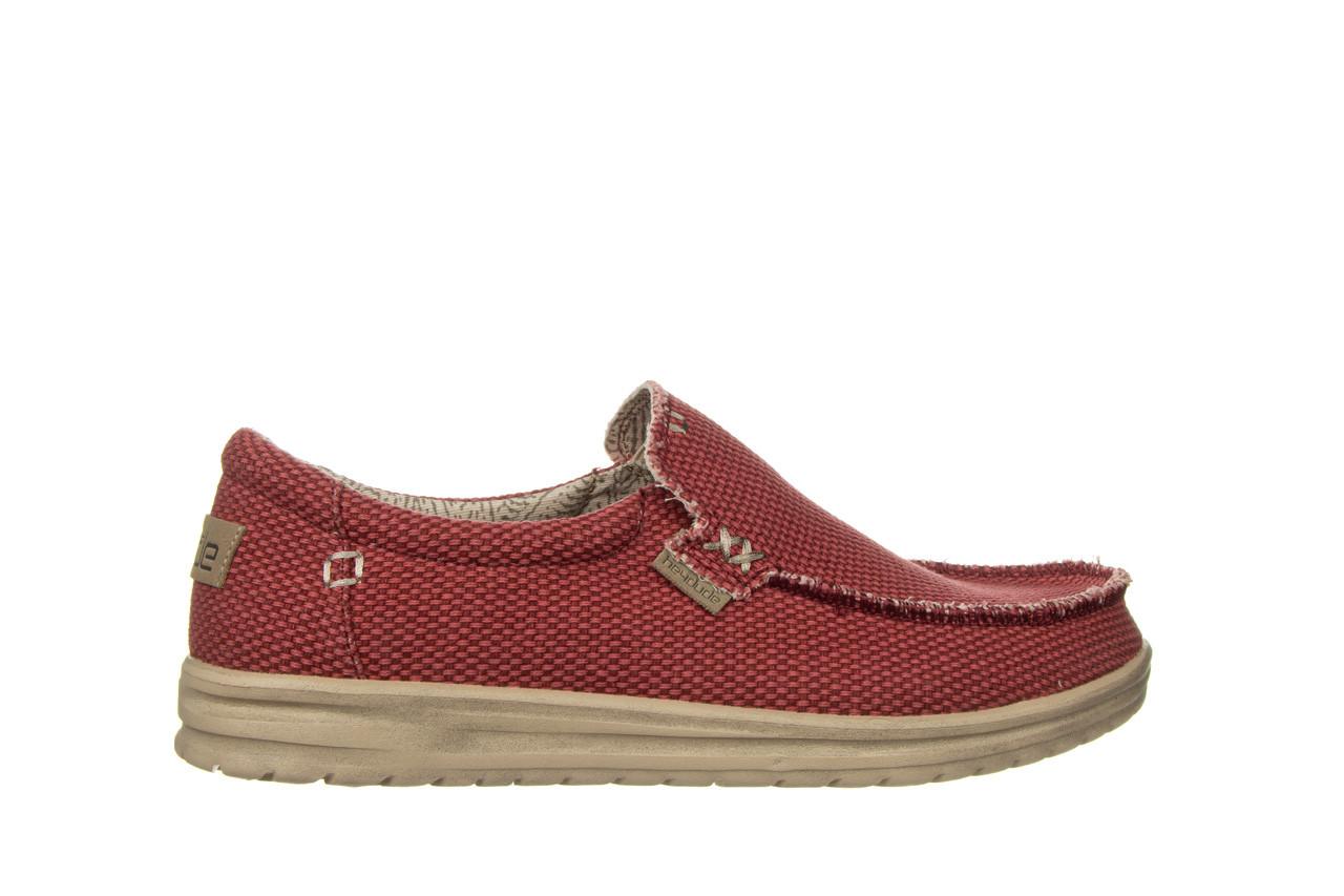 Półbuty heydude mikka braided pompeian red 003215, czerwony, materiał  - nowości 8
