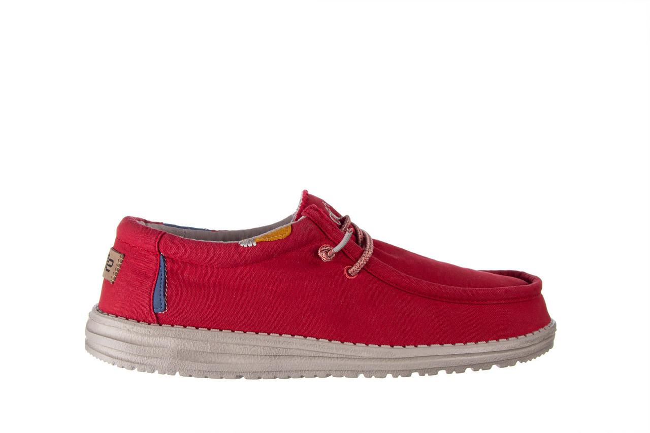 Półbuty heydude wally washed molten lava 003208, czerwony, materiał - trendy - mężczyzna 8