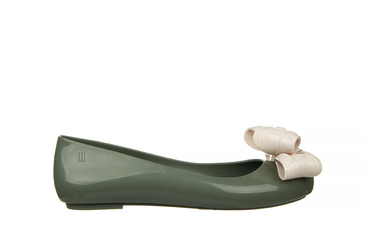 Baleriny melissa sweet love iv ad green beige 010370, zielony, guma 8