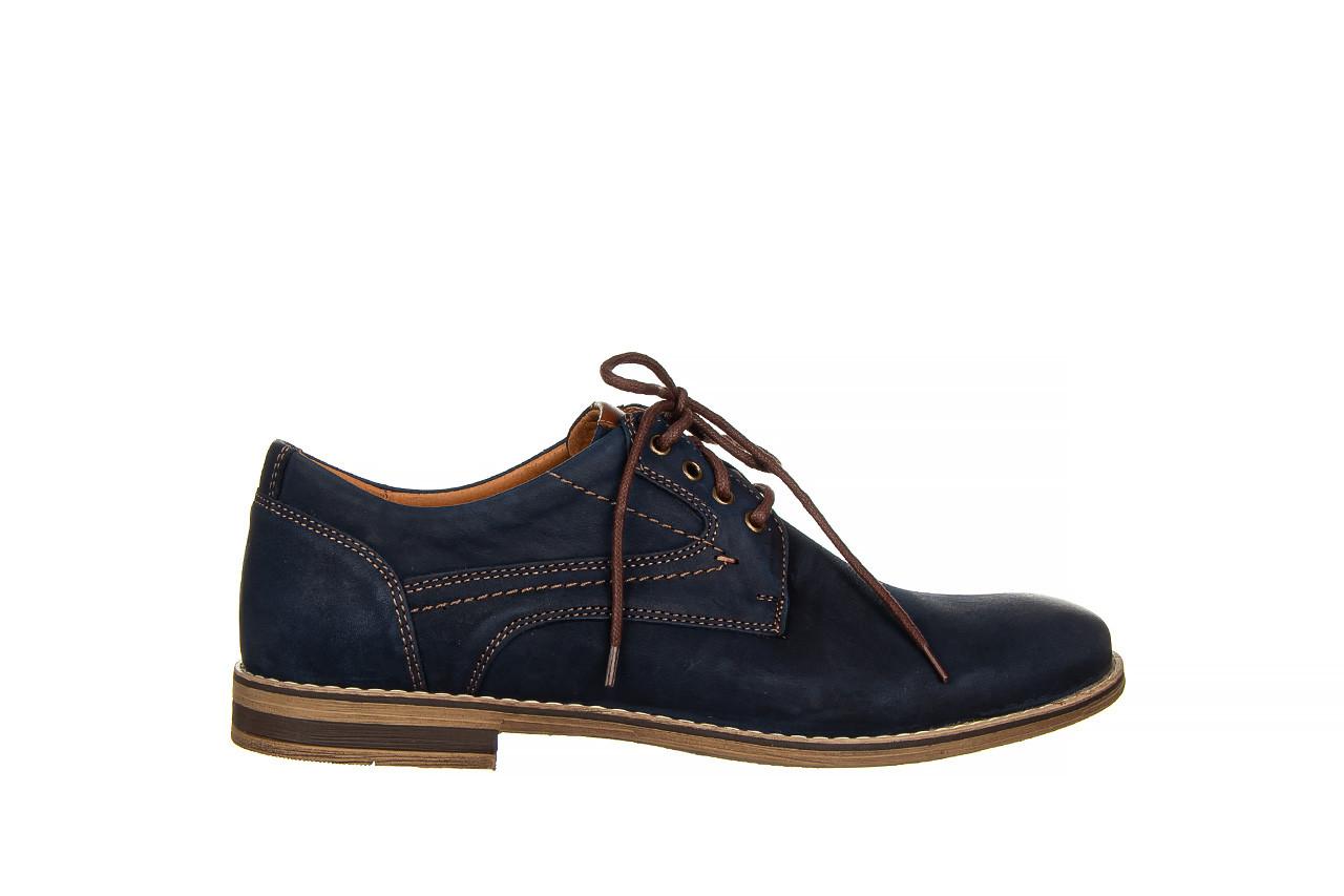 Półbuty bayla-081 831 juma blue ax, granat, skóra naturalna  - wizytowe - półbuty - buty męskie - mężczyzna 8