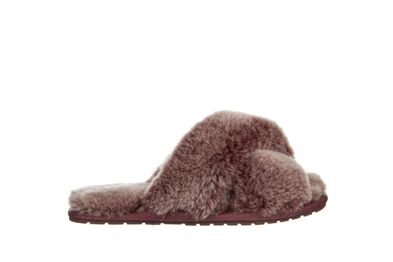Kapcie emu mayberry frost burnt rust 119131, bordo, futro naturalne  - nowości 7