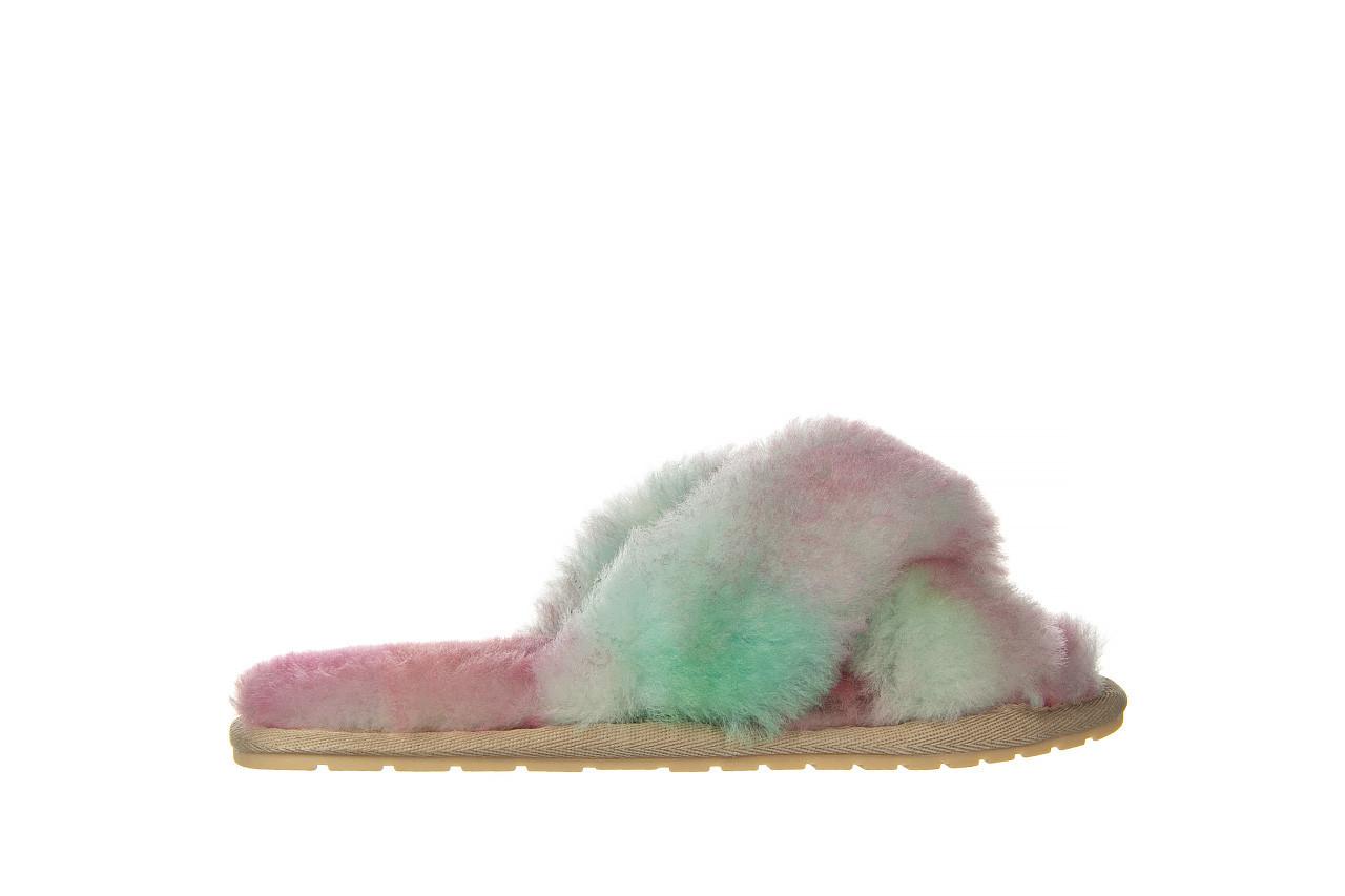 Kapcie emu mayberry tie dye fairly floss 119137, róż, futro naturalne  - nowości 7