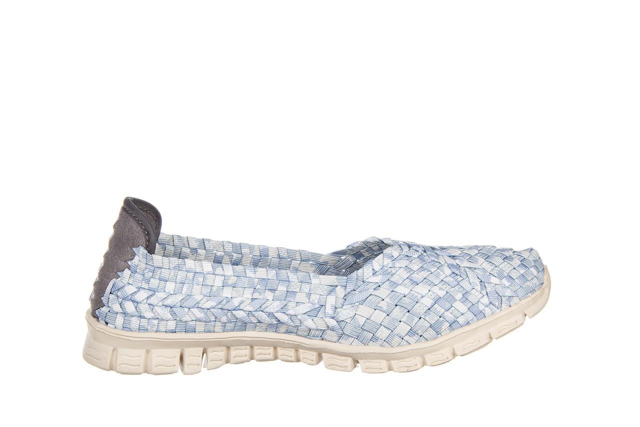 Półbuty rock carioca perena blue smoke 032826, niebieski/ biały, materiał - wsuwane - półbuty - buty damskie - kobieta 8