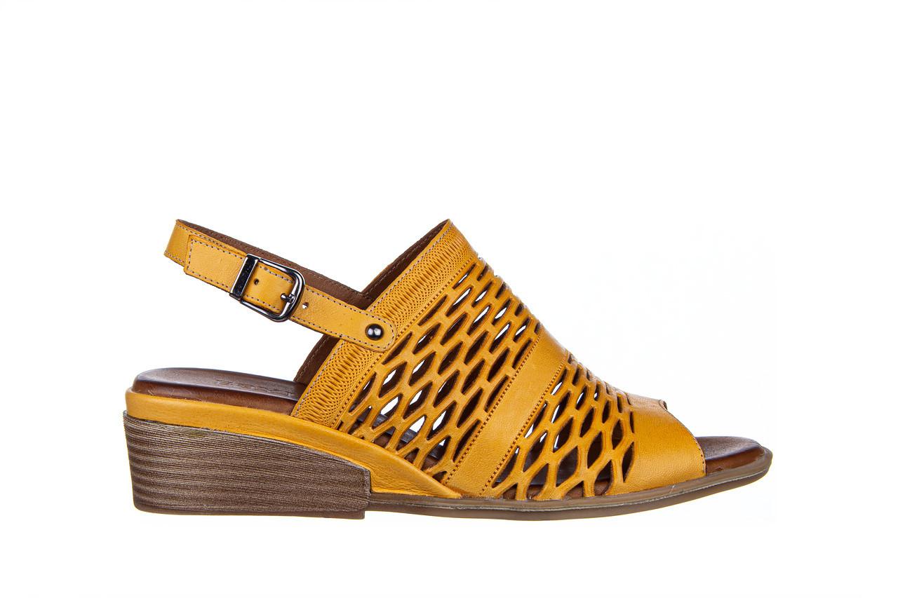 Sandały bayla-161 061 1600 noce 161200, żółty, skóra naturalna  - bayla - nasze marki 8