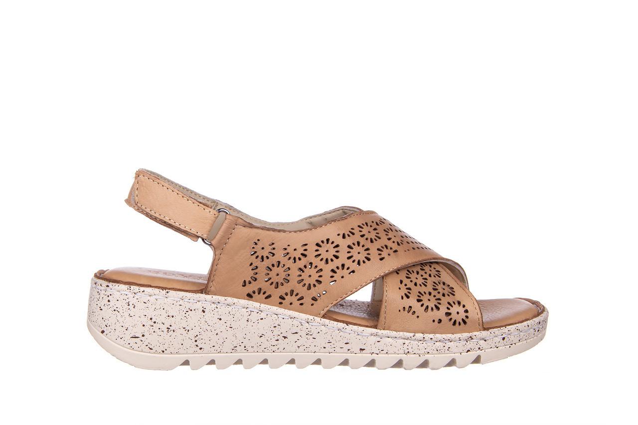 Sandały bayla-161 016 921 cappuccino 161192, brąz, skóra naturalna - sandały - buty damskie - kobieta 9