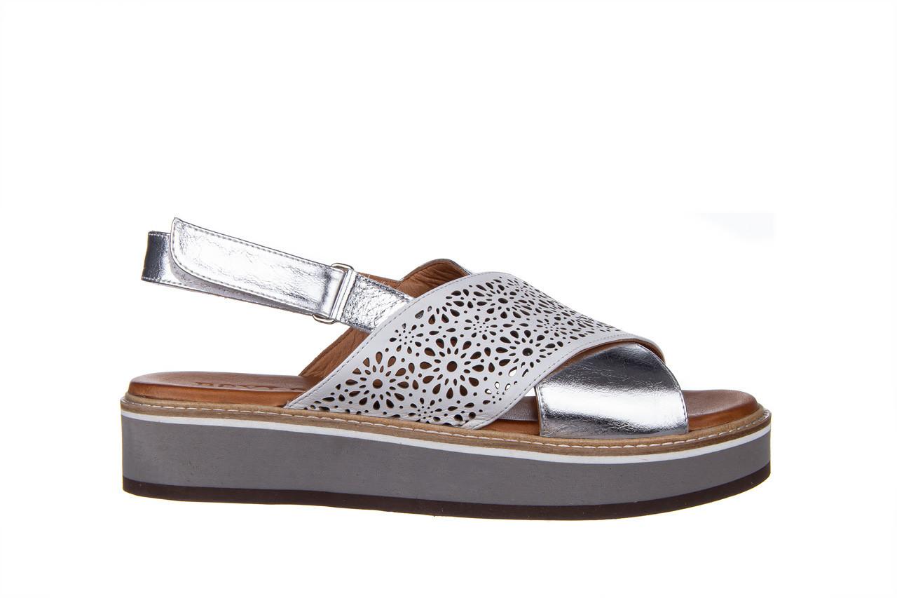 Sandały bayla-161 105 2014 white silver 161213, srebrny/ biały, skóra naturalna  - bayla - nasze marki 8