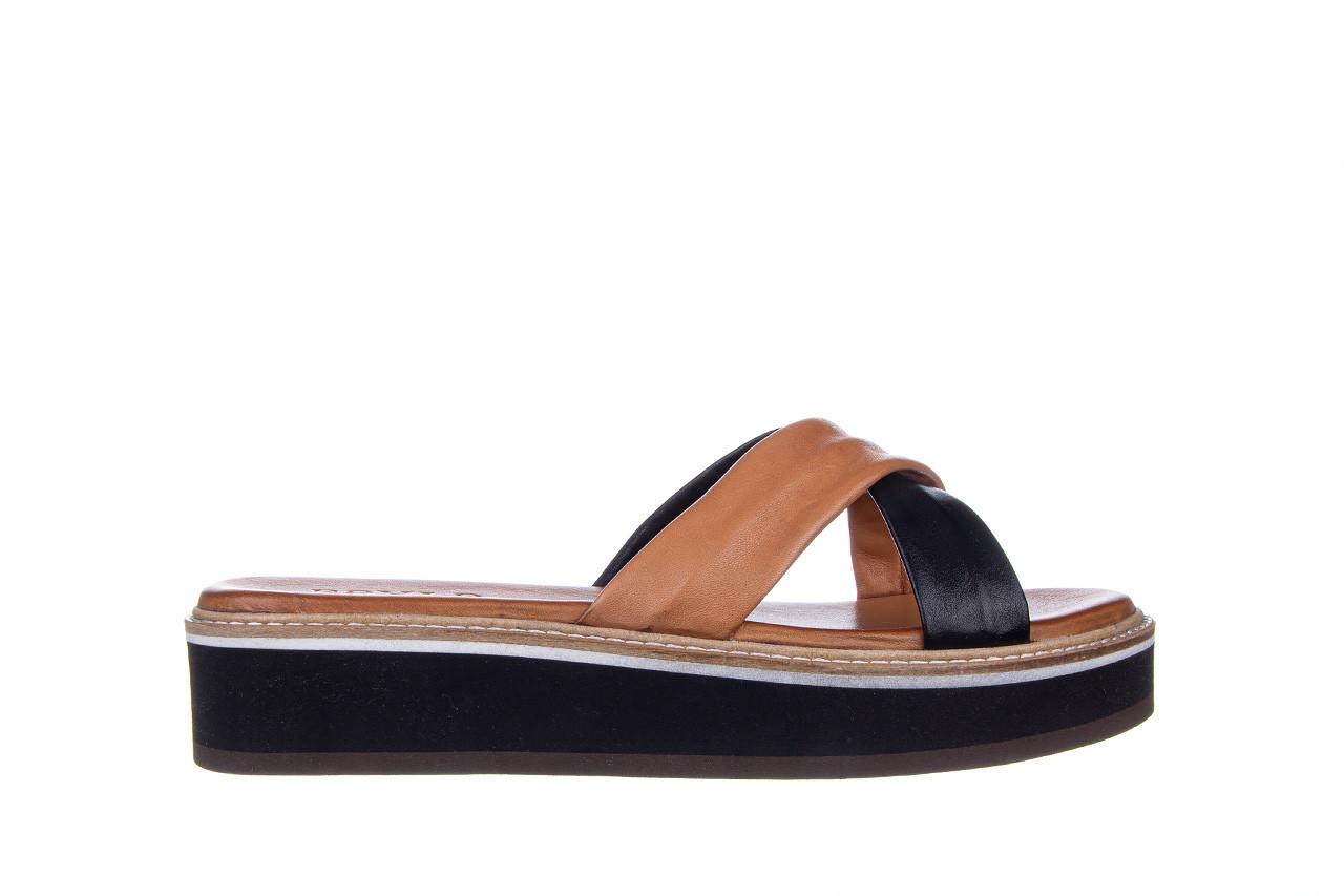 Klapki bayla-161 105 6004 black tan 161214, czarny/ brąz, skóra naturalna  - klapki - buty damskie - kobieta 8