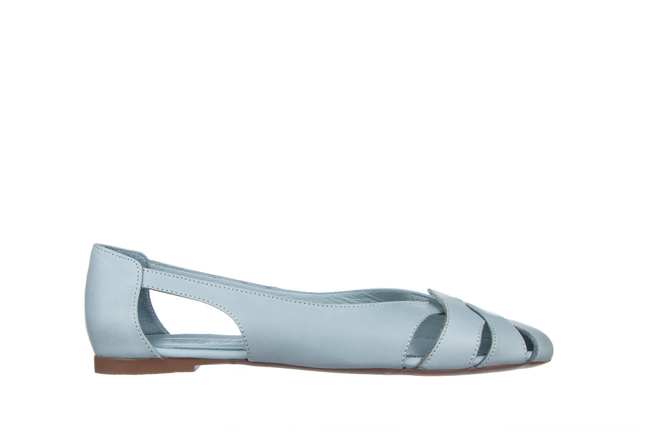 Baleriny bayla-161 138 1560 fresh 161220, niebieski, skóra naturalna - skórzane - baleriny - buty damskie - kobieta 8