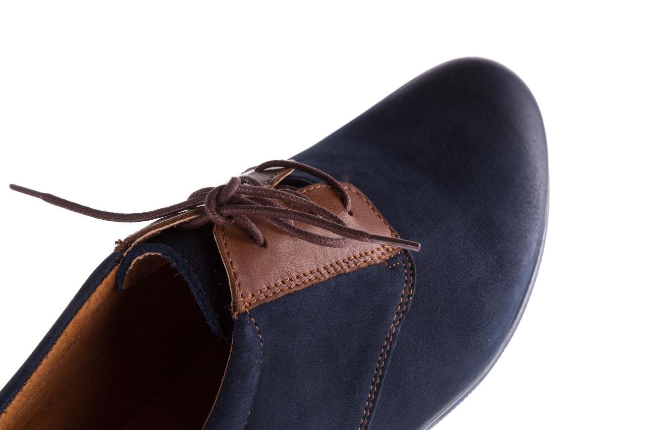 Półbuty bayla-081 777 granat nubuk juma blue ax, skóra naturalna - buty męskie - mężczyzna 11