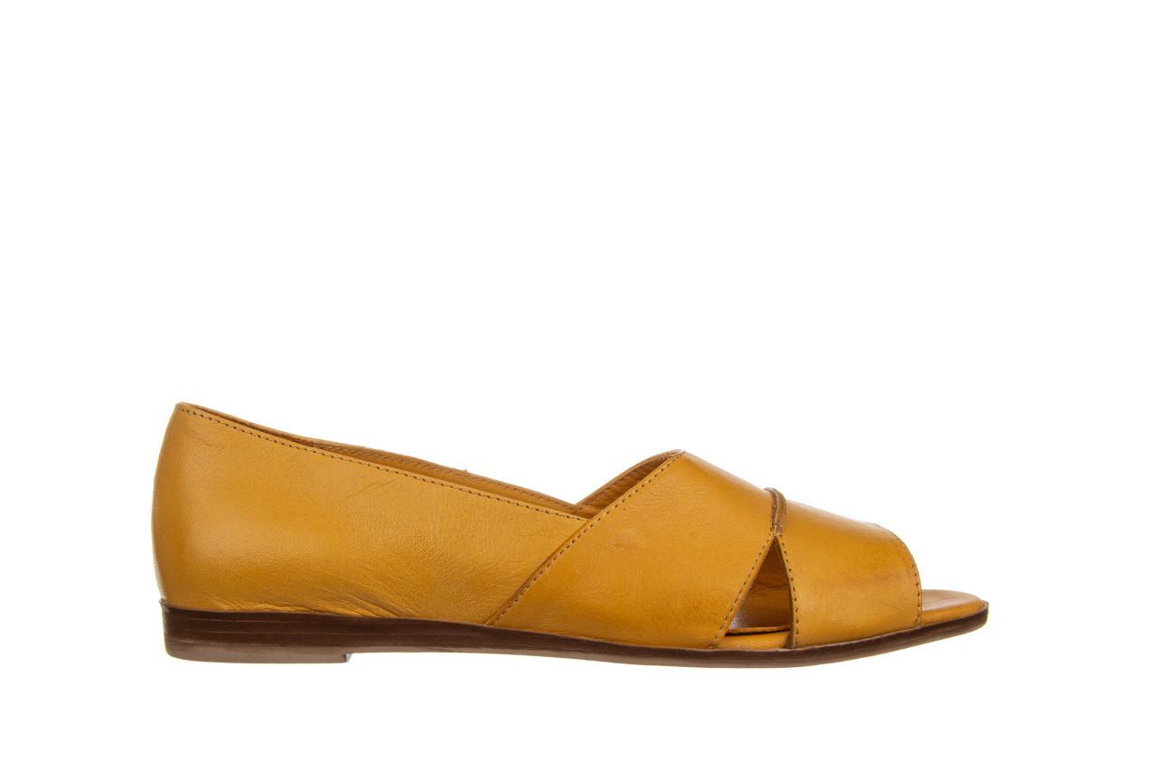 Baleriny bayla-161 138 80123 noce 161225, żółty, skóra naturalna  - skórzane - baleriny - buty damskie - kobieta 8