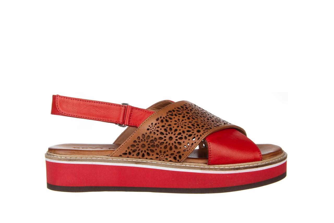 Sandały bayla-161 105 2014 coconut red 161212, czerwony/ brąz, skóra naturalna  - skórzane - sandały - buty damskie - kobieta 9