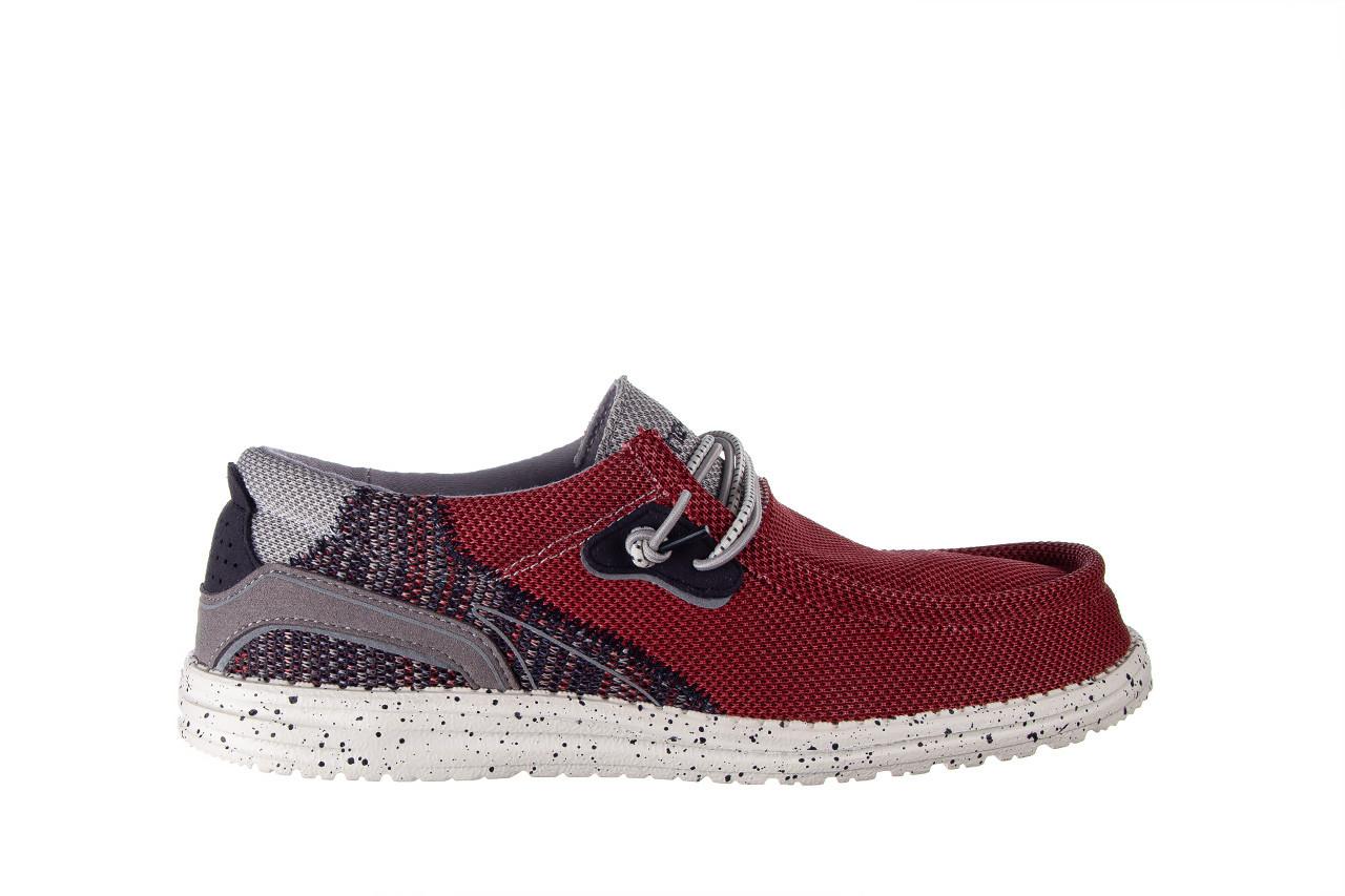 Półbuty heydude wally hawk lava grey 003200, czerwony, materiał - trendy - mężczyzna 8