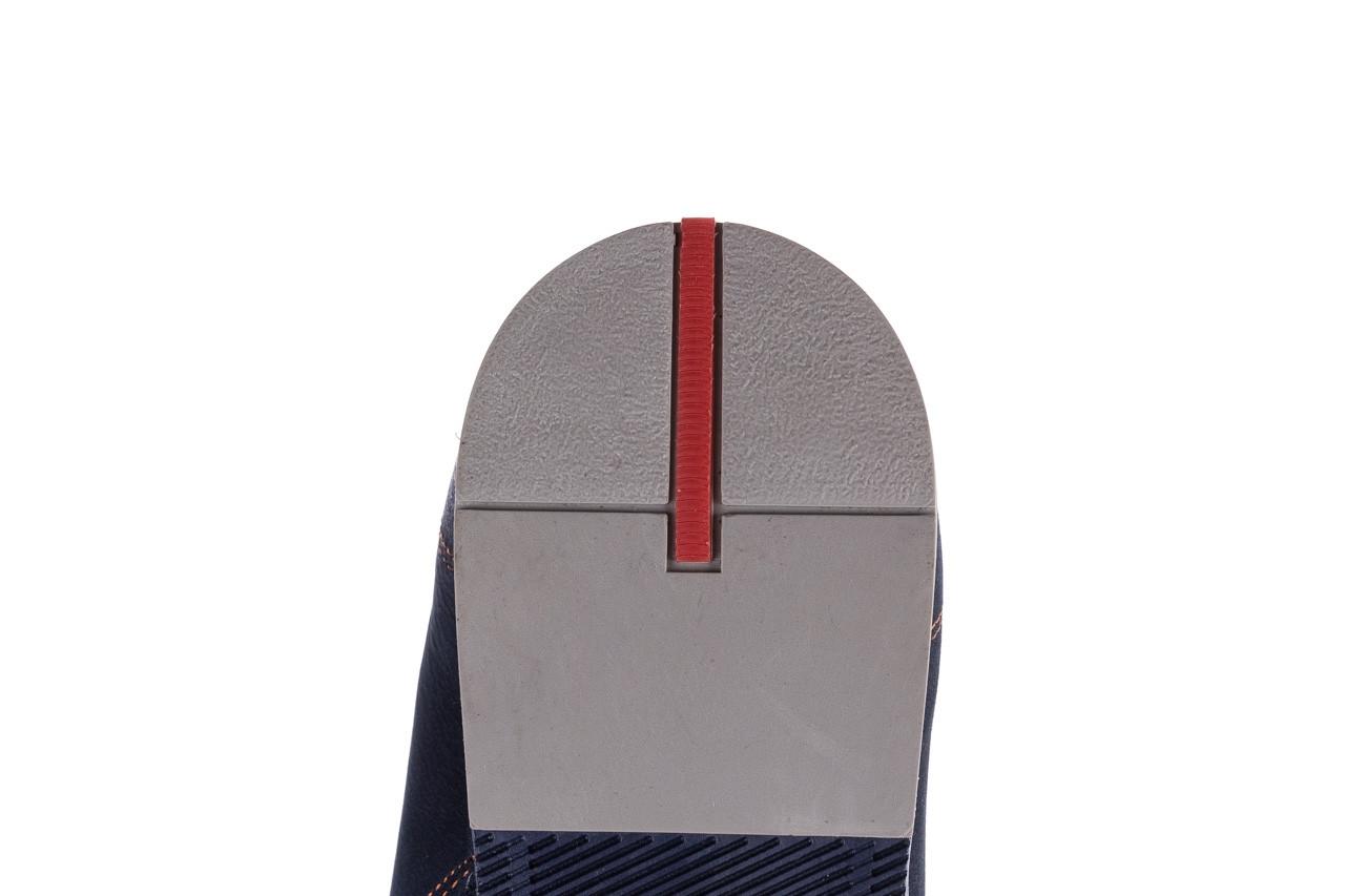 Półbuty bayla-081 777 granat nubuk juma blue ax, skóra naturalna - buty męskie - mężczyzna 13